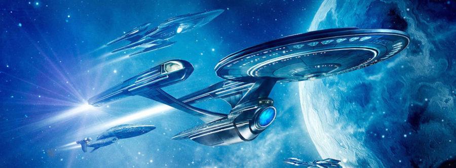 Une très belle image d'un vaisseau de Star Trek