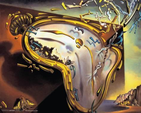 Tableau de Salvador Dali avec une montre