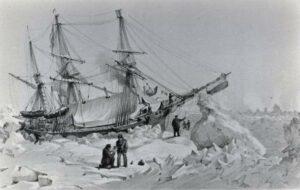 HMS Terror pris dans les glaces